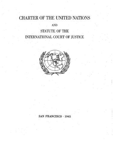 Carta Fundacional de las Naciones Unidas y acuñación del término