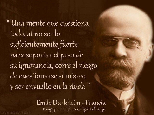 """Emile Durkheim """" El Primero en abordar la educación dentro de la sociología"""""""