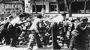 Luchan entre sí en Barcelona distintas fuerzas republicanas enfrentadas a causa de la primacía de la revolución o la organización militar