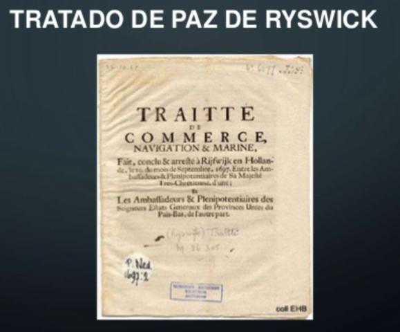 Se firma la paz de Ryswick