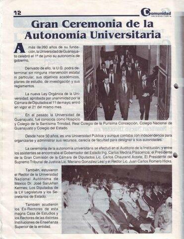 Autonomía a la Universidad Nacional Autónoma de México.