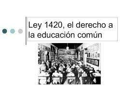 Ley de Educación 1420