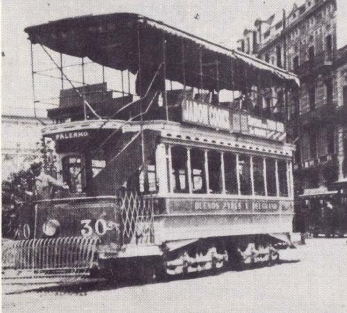 primeros tramways electricos