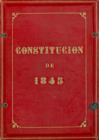 Promulgación de Constitución de 1845