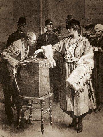 1918 sufragio femenino