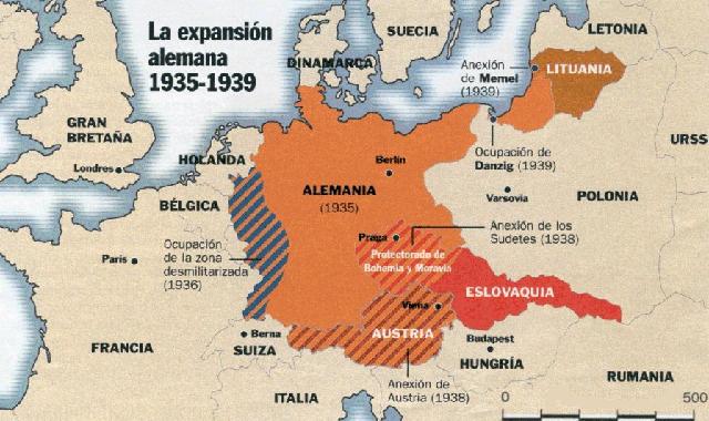 anexión de Austria y Checoslovaquia