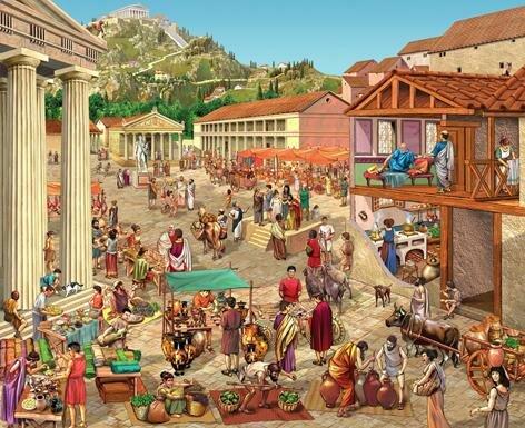 Aparición de la moneda en Grecia.