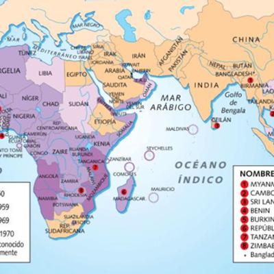 El proceso de descolonización de Africa y Asia timeline