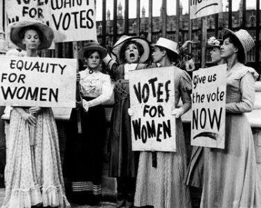 The right to vote for some women (1930 over)