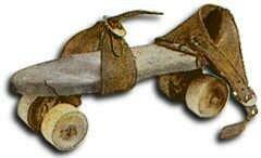 Se inventan los patines con ruedas de metal, madera o marfil
