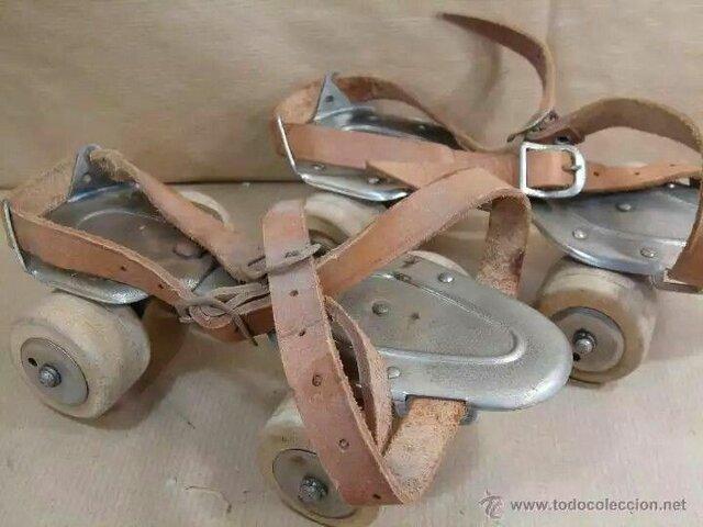 Se construyen patines con ruedas de madera