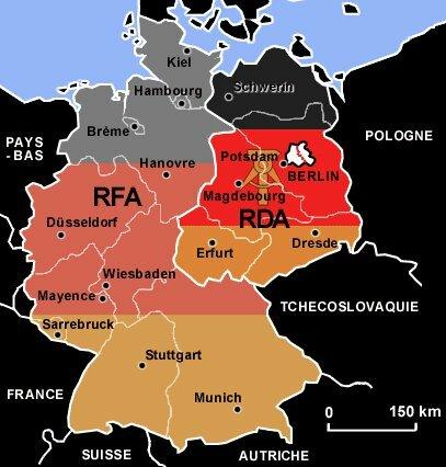Alemania se dividió en dos naciones: