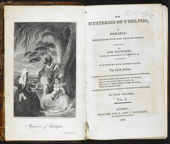 """Radcliff - """"The mysteries of Udolpho"""""""