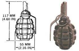 15. La granada de mano (1734)