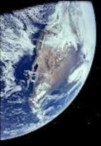 a picture of earth is taken from the moon