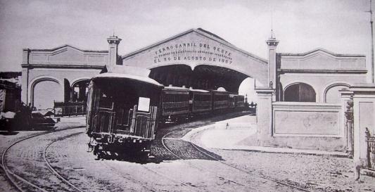Inauguración Ferrocarril Oeste