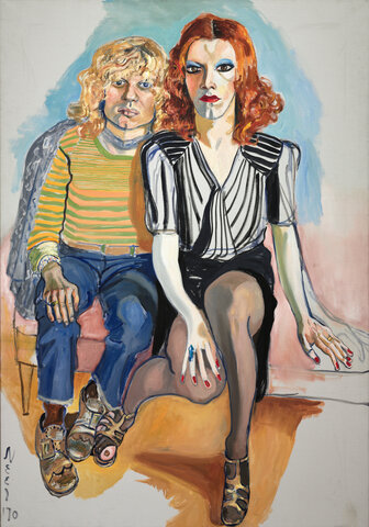 """Alice Neel. """"Jackie Curtis and Ritta Redd,"""" 1970, Cleveland Museum of Art, Cleveland, Ohio."""