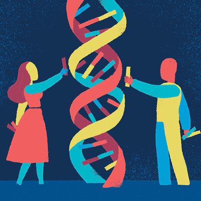 Principales aportes al desarrollo de la Genética timeline