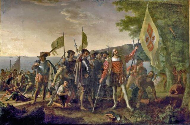 Llegada de los conquistadores españoles a America