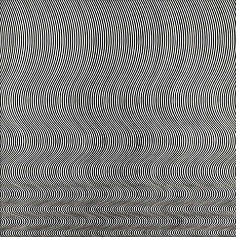 "Bridget Riley. ""Fall,"" 1963, Tate Britain, London, United Kingdom"