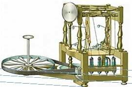 Maquina de hilar algodón