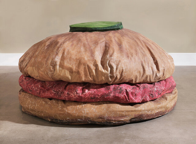 "Claes Oldenburg. ""Floor Burger,"" 1962, Art Gallery of Ontario, Toronto, Canada."