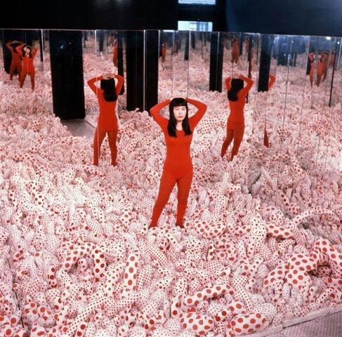 "Yayoi Kusama. ""Infinity Mirror Room,"" 1965, Louisiana Museum of Modern Art, Humlebaek, Louisiana."