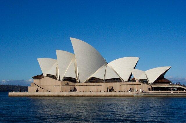 """Jørn Utzon. """"Sydney Opera House,"""" 1973, Sydney, Australia"""