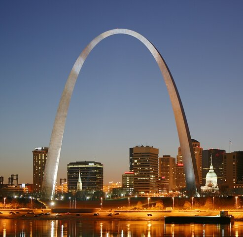 "Eero Saarinen. ""Gateway Arch,"" 1965, St. Louis, Missouri."