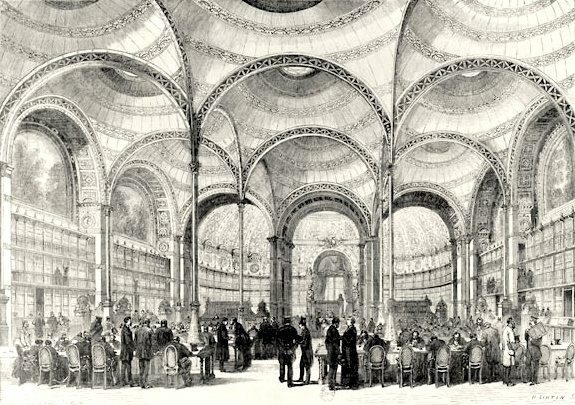 The Bibliothèque Nationale's reading rooms, closed since September 1870, are reopened in Paris