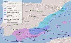 Colonies a la peninsula Iberica.