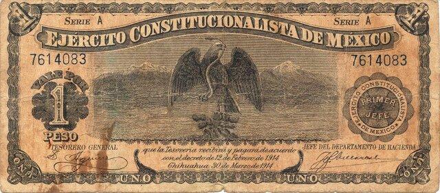 Papel moneda convertible.