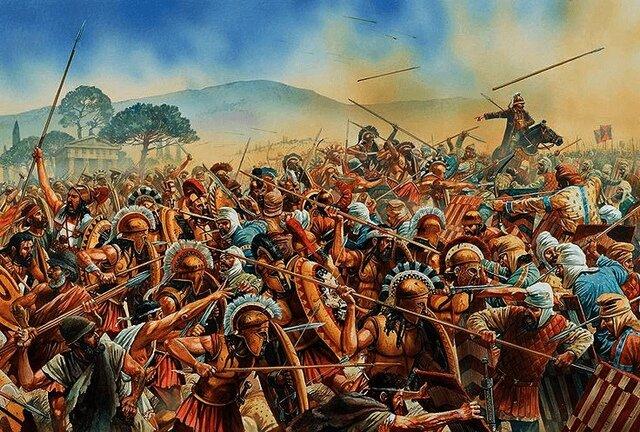 Grecs vs Perses ( guerres médiques)