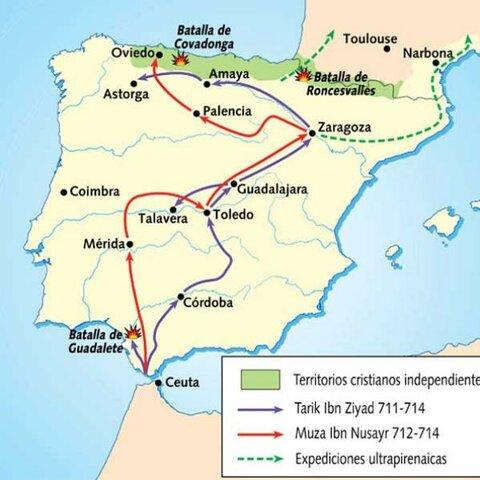 Invasión musulmana de la peninsula iberica
