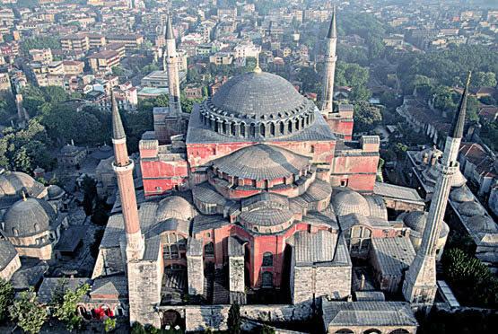 Construción de santa Sofia de constantinopla