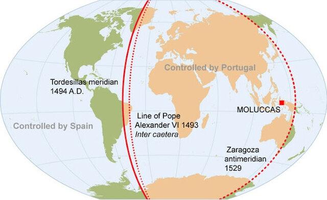 Espai per al document -> Tractat de Tordesilas (1494)