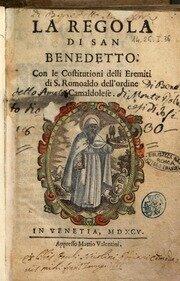 """Benedetto scrive la """"Regola"""""""
