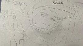 Работы детей ко дню космонавтики timeline