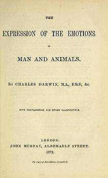"""Obra """"La expresión de las emociones en el hombre y en los animales"""""""