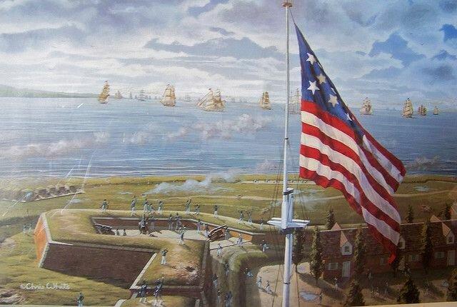 Batalla de Fort McHenry-Inspiró el himno nacional de EE. UU.