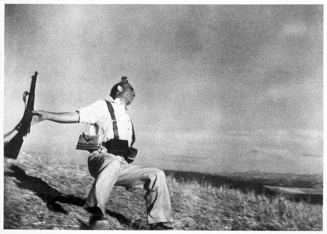 Mort d'un milicià de Robert Capa