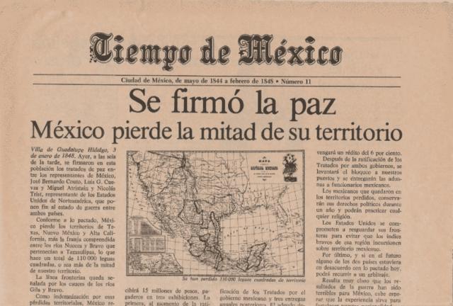 Tratado Guadalupe-Hidalgo – fin de la guerra M-E.