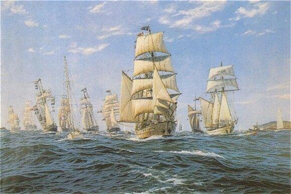 First Fleet left England to establish a prison