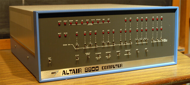 The altair 8800 is released, and becomes the first comercially successfull computer.