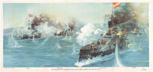 destruction of Spanish fleet in Cuba