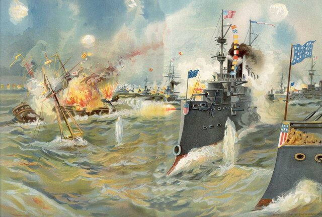 U.S attack on Manila Bay