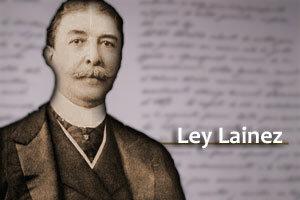 Sanción de la Ley Lainez