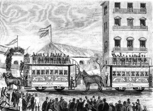 La inauguración de la primera tranvía