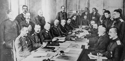 Russia signs armistice with germany