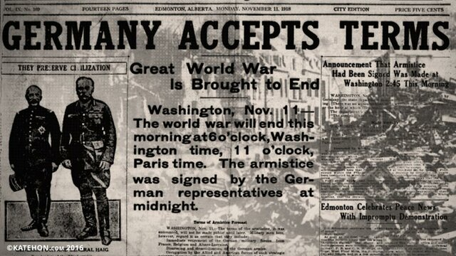 Germany Signs Armistice Officially Ending the War